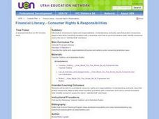Financial Literacy - Consumer Rights & Responsibilities Lesson Plan