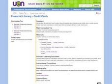 Financial Literacy - Credit Cards Lesson Plan