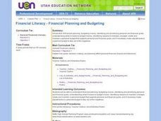 Financial Literacy - Financial Planning and Budgeting Lesson Plan