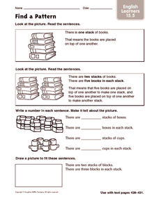Find a Pattern: English Learners Worksheet