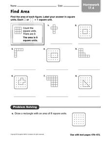 Find Area: Homework 17.4 Worksheet