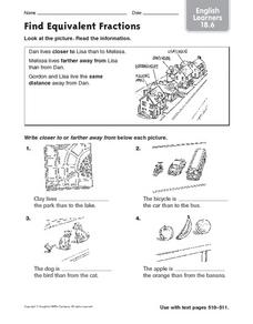 Find Equivalent Fractions English Learners 18.6 Worksheet