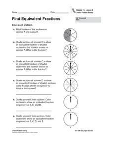 Find Equivalent Fractions Worksheet