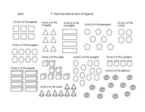Find Fractions of Sets of Objects Worksheet