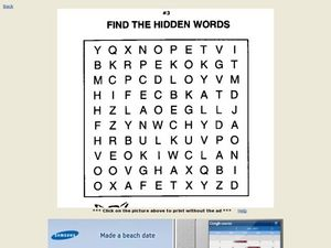 Find the Hidden Words (#3) Worksheet