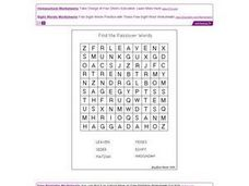 Find the Passover Words Worksheet