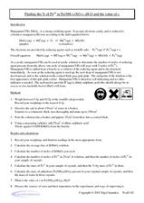 Find the Percent of Iron in Manganate (VII) Worksheet