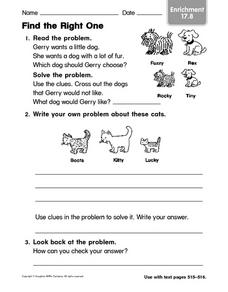 Find the Right One Worksheet