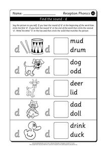 Find the Sound - D Worksheet