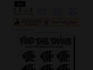 Find the Twins: Fish Worksheet