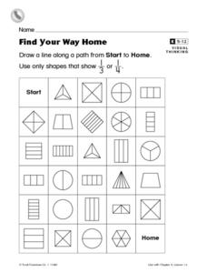 Find Your Way Home Worksheet