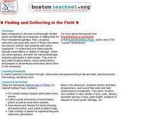 Finding and Collecting in the Field Lesson Plan