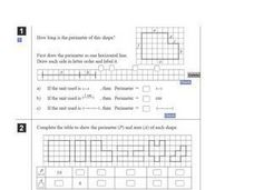 Finding Area and Perimeter Worksheet