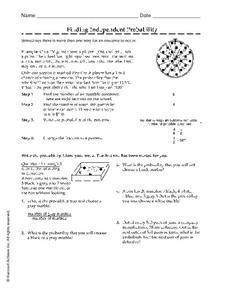 Finding Independent Probability Worksheet