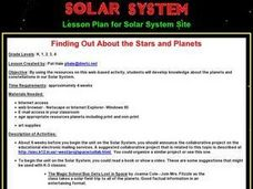 Finding Out About the Stars and Planets Lesson Plan