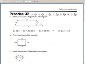 Finding Perimeter and Area Worksheet