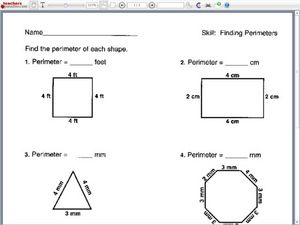 Finding Perimeter Worksheet