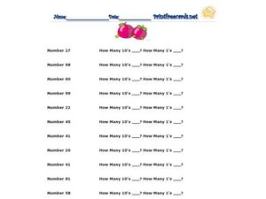 Finding Place Value Worksheet