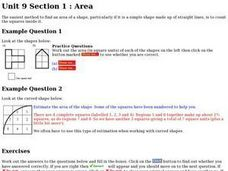 Finding the Area of a Shape Worksheet