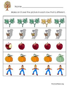 Finding the Item That is Different - Autumn Theme Lesson Plan