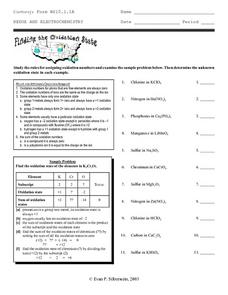 Finding the Oxidation State Worksheet