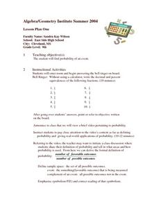 Finding the Probability Lesson Plan