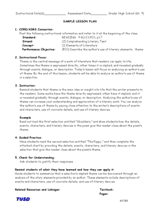 Finding Theme Lesson Plan