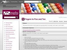 Fingers to Five and Ten Lesson Plan