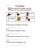 Fire Gear: Firefighter Activity Worksheet