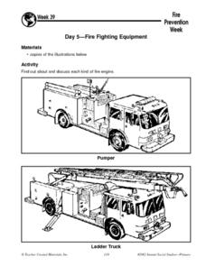 Fire Prevention Week: Day Five Fire Fighting Equipment Worksheet