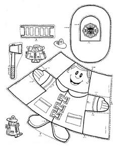 Fireman Puppet Worksheet