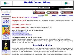 First Aid Booklet Lesson Plan