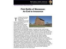 First Battle of Manassas: An End to Innocence (12) Lesson Plan