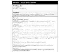 First Class Mail Lesson Plan