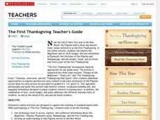 First Thanksgiving Teacher's Guide Lesson Plan