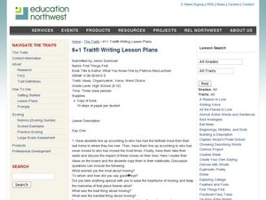 First Things First Lesson Plan