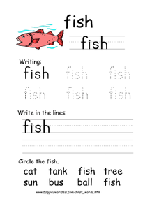 First Word: Fish Worksheet
