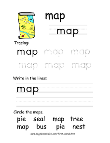 First Word: Map Worksheet