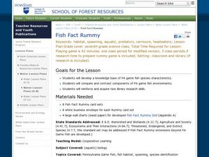 Fish Fact Rummy Lesson Plan