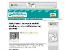 Fish Farm: an open ended, student centered laboratory activity Lesson Plan