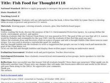Fish Food for Thought Lesson Plan
