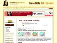 Fish Themed Silk Painting Lesson Plan