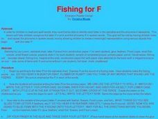 Fishing for F Lesson Plan