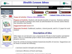 Fitness Advertisements Lesson Plan