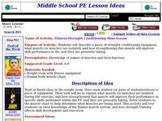 Fitness and Conditioning Lesson Plan