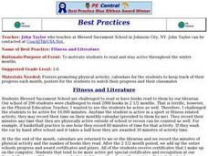 Fitness and Literature Lesson Plan