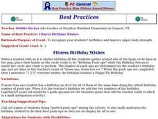 Fitness Birthday Wishes Lesson Plan