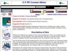Fitness Bowling Lesson Plan