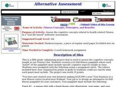 Fitness Concepts, Principles, and Benefitws Lesson Plan