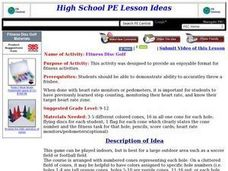 Fitness Disc Golf Lesson Plan